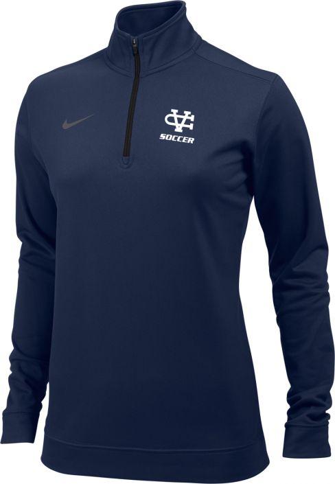 ae05a375b Nike Women's Dri-Fit 1/2 Zip, Navy: sportpacks.com