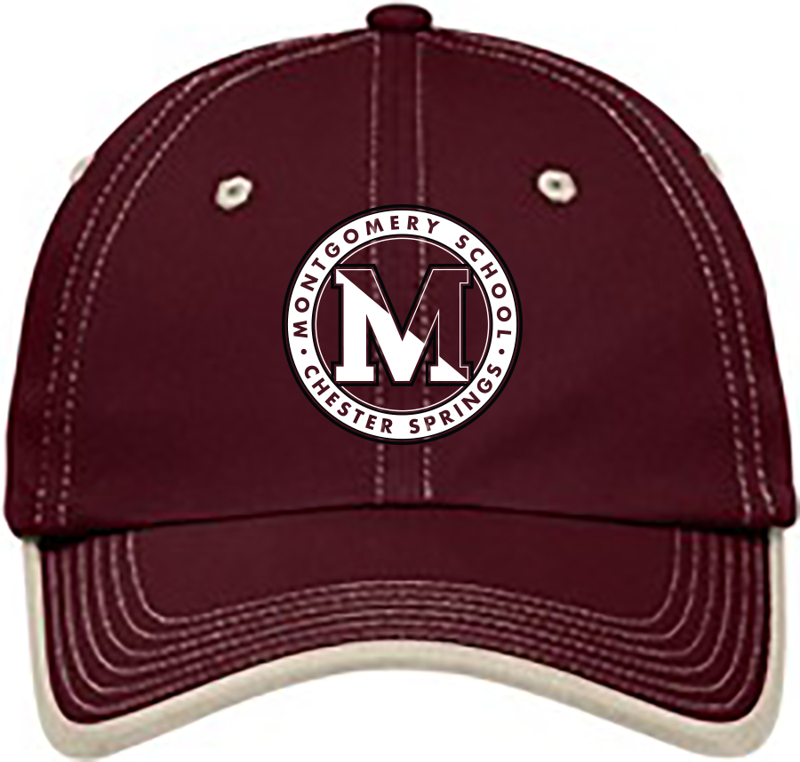 1417e6374316f3 Vintage Washed Contrast Stitch Cap, Maroon/ Stone: sportpacks.com