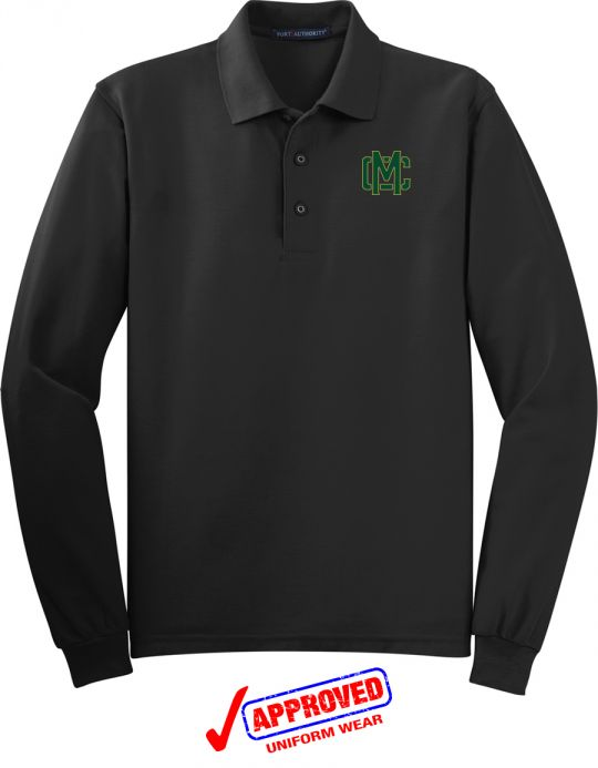 41c5039a5 Port Authority Adult   Youth Silk Touch Long Sleeve Polo
